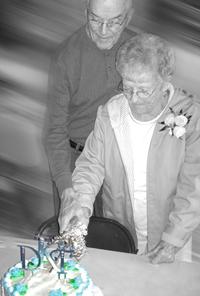 """Cutting their """"Wedding Cake"""""""