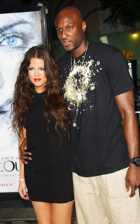 Kardashian and Odom at the <i>Whiteout</i>movie premiere