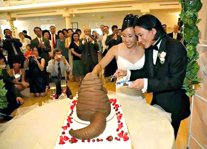 Seriously, what's on their wedding cake?