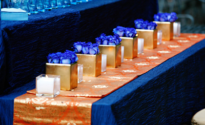Best wedding ideas lovely navy blue wedding centerpieces theme junglespirit Images