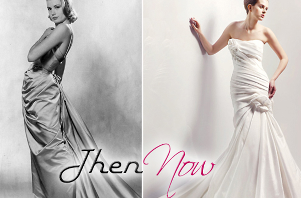 grace kelly wedding gown. gown on Grace Kelly before