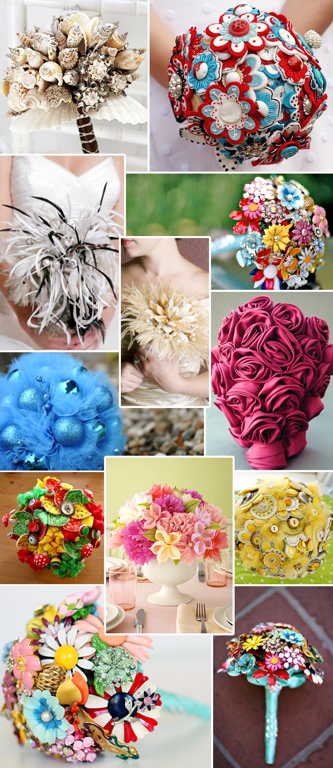 Great non flower bouquets gallery wedding and flowers ispiration diy non flower bridal bouquet diy keepsake wedding bouquets izmirmasajfo Images