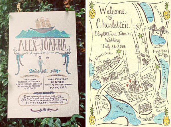 Best Wedding Invitations Ever: Greet Your Guests With Gusto: Custom Illustrated