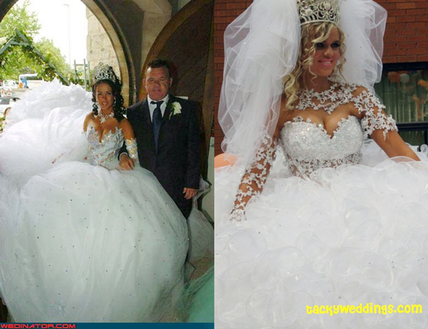 Ridiculous wedding dresses the best wedding blog ever by for How much are wedding photos