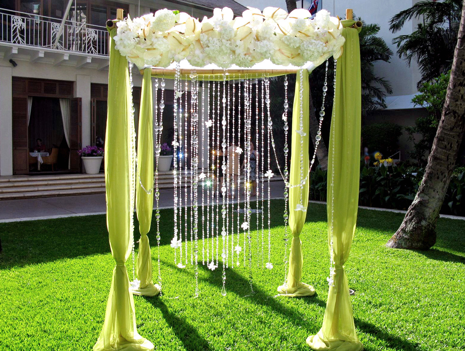Decorating Ideas for Backyard Wedding Reception